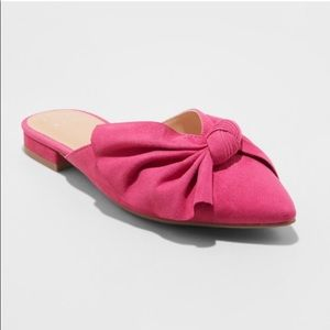 Beth Bow Mule HOT Pink! Sz 11 NEW!
